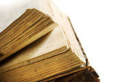 Very Old Book's Pages Closeup — Stock Photo