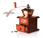 Coffee Grinder Over White — Stock Photo