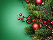 Christmas Decoration border Design — Stock Photo