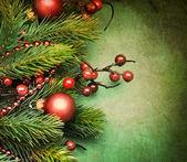 Retro vánoční přání — Stock fotografie