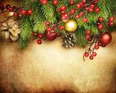 Christmas Retro Card border design — Stock Photo
