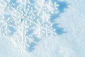 Snowflakes. Winter Snow Background. Christmas — Stock Photo