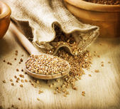 Buckwheat Groats. Food Background — Stock Photo