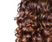 Wavy Hair isolated on white — Stock Photo