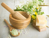 Herbal Cosmetics. Spa Products — Stock Photo