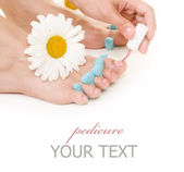 Pedicure. Woman's Feet Closeup — Stock Photo