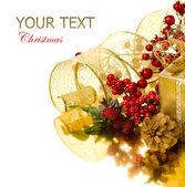 Decoraciones y regalo de navidad — Foto de Stock