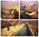 Gran muralla collage.china — Foto de Stock