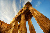 Lebanon. Old Ruins. Roman Columns in Baalbeck — Stock Photo