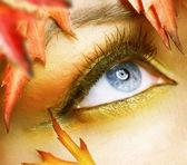 Autumn eyes Makeup — Stock Photo