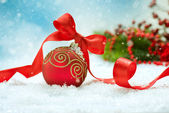Christmas and New Year Decorations.Bauble — Stock Photo