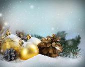 Christmas Gift Card — Stock Photo