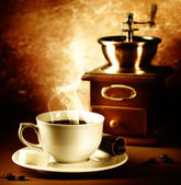 Coffee. Vintage Styled. Sepia toned — Stock Photo