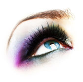 Eye Makeup Isolated On White — Stock Photo