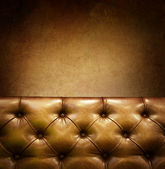 Luxury Furniture with copyspace. Genuine leather — Stock Photo
