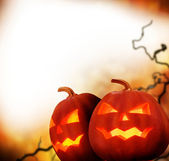 Halloween Pumpkins. Border Design — Stock Photo