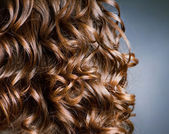 Curly Hair. Hairdressing. Wave — Stock Photo