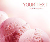 Strawberry Ice Cream Border — Stock Photo