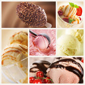 Eiscreme-set — Stockfoto