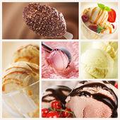 冰淇淋集 — 图库照片