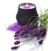 Spa Lavender Cosmetics — Stock Photo