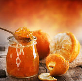 Orange homemade jam — Stock Photo