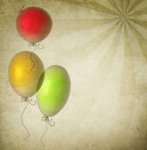 Vintage Holiday Background With Balloons — Stock Photo