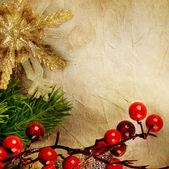 Christmas Retro Card — Stock Photo