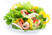 Healthy Salad With Shrimps — Stock Photo