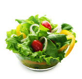 Healthy Vegetarian Salad Over White — Stock Photo