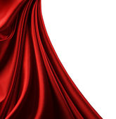 Red Satin Border. Isolated On White — Stock Photo