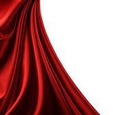 Borde de raso rojo. aislado en blanco — Foto de Stock