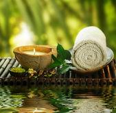 Festlegen von outdoor spa — Stockfoto