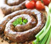 Homemade Sausage. Selective Focus — Stock Photo