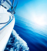 Travel .Luxury Yacht. Sailing — Stock Photo