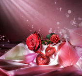 St.Valentine's Background With Copy Space — Stockfoto