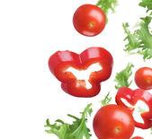 Légumes frais sur blanc — Photo