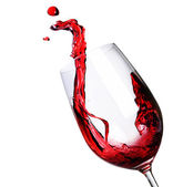 Red Wine Abstract Splashing — Stock Photo