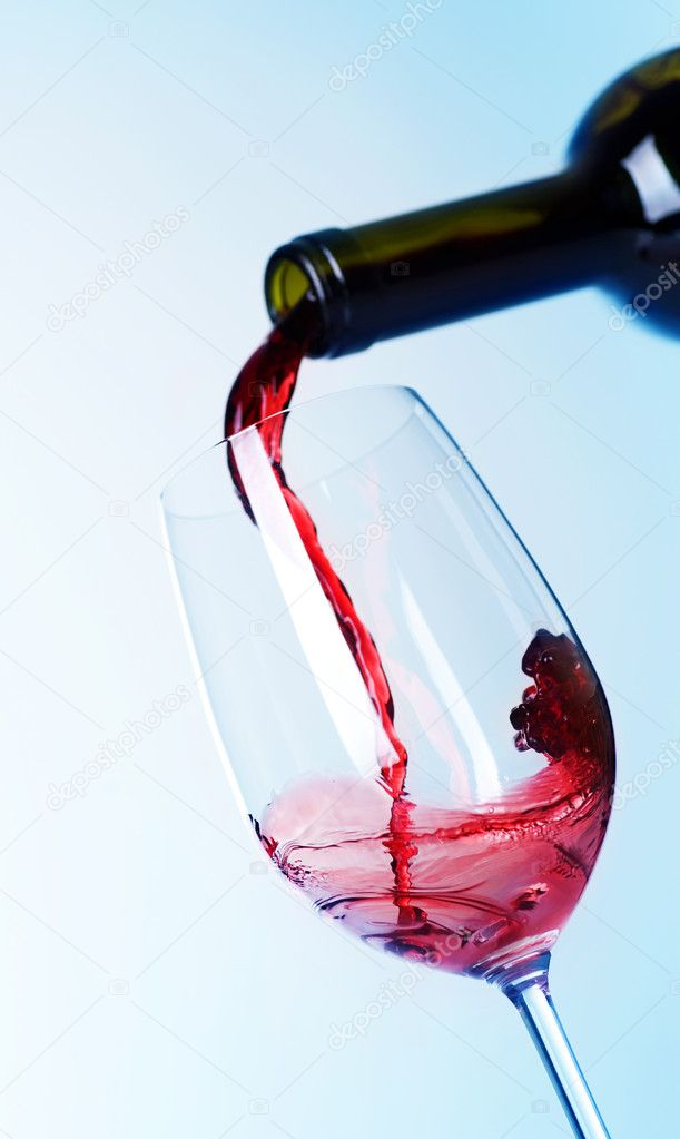Glass of Red Wine  Stock Photo #10680479
