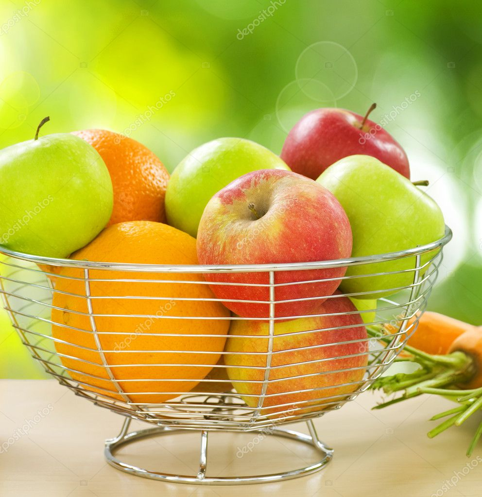 Healthy Food. Organic Fruits and Vegetables — Stock Photo #10680507