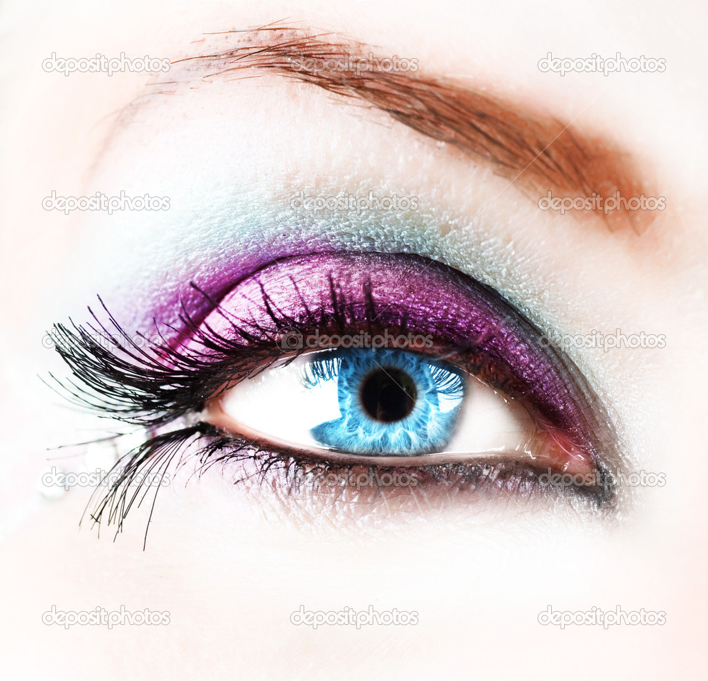 Beautiful Abstract Woman Eye Closeup — Stock Photo © Subbotina ...