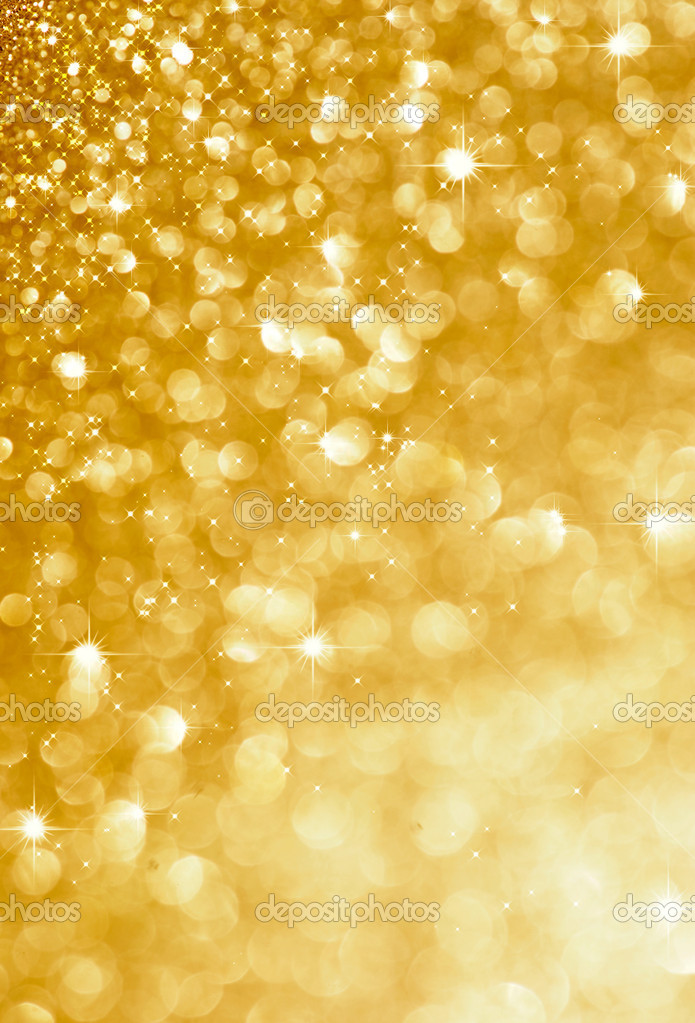 Christmas gold blinking background — Stock Photo #10681347