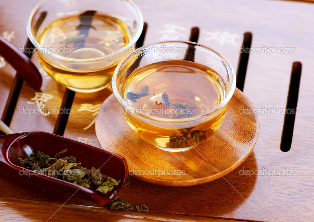 Tea .Traditional Chinese Tea Ceremony — Stock Photo #10682020