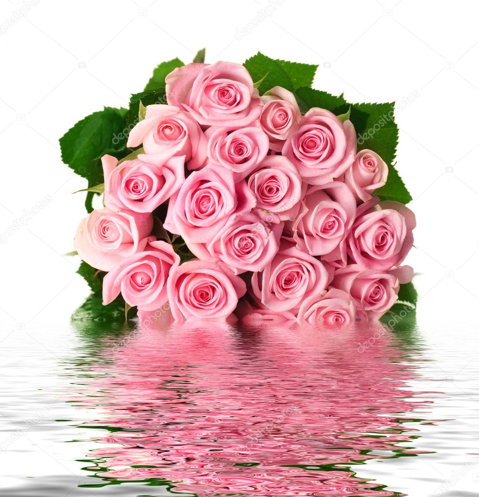 Fresh Roses Bouquet — Stock Photo #10682596
