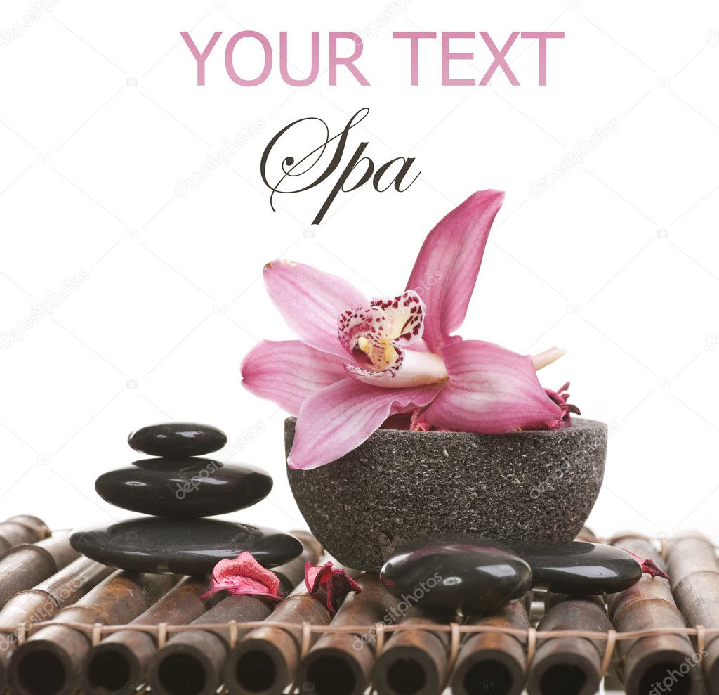 Spa Stone Massage — Stock © Subbotina