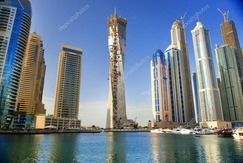 Dubai uae november 29 view at modern skyscrapers in for Modern hotel dubai