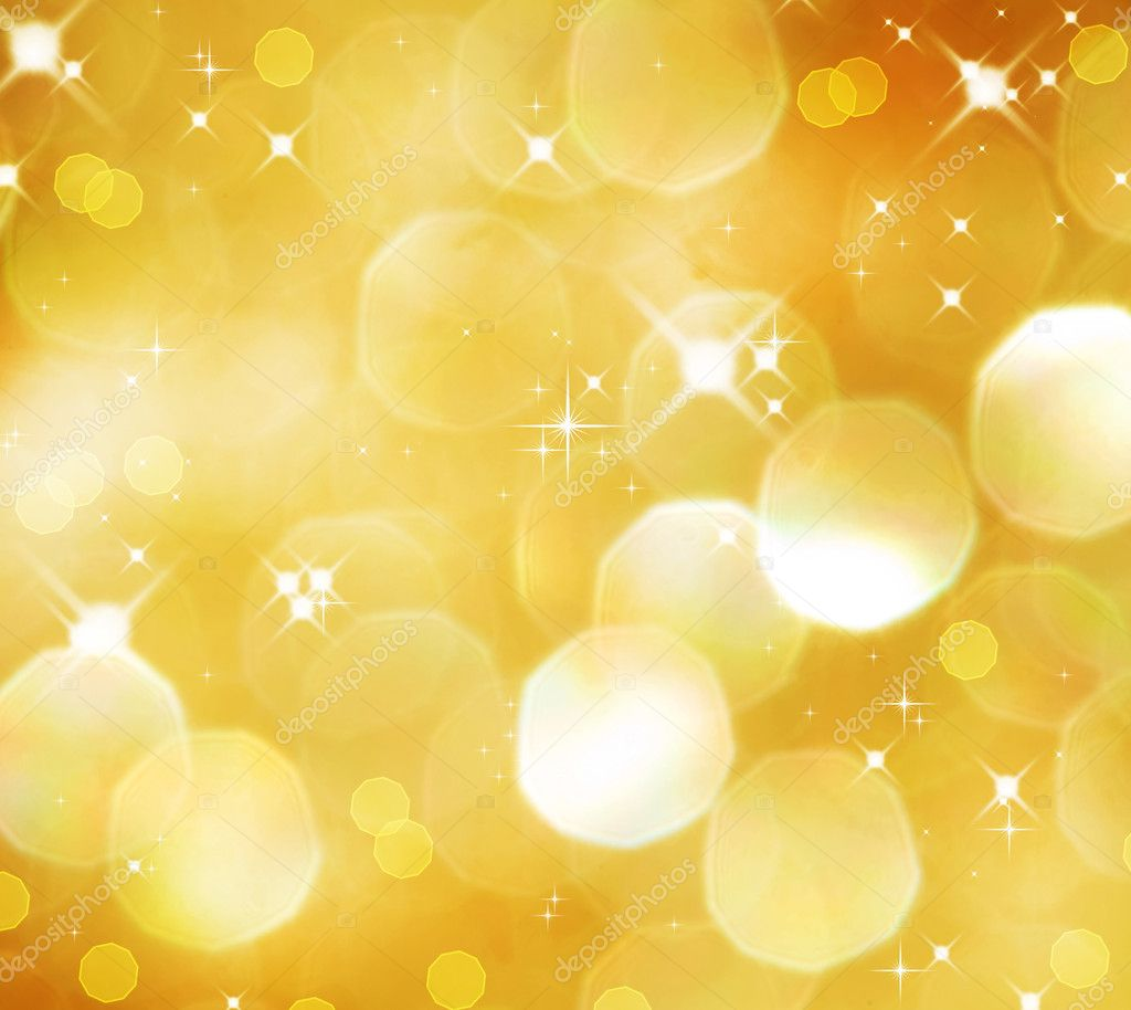 Christmas Golden Glittering background.Holiday Gold abstract texture. Bokeh  Stock Photo #10687584