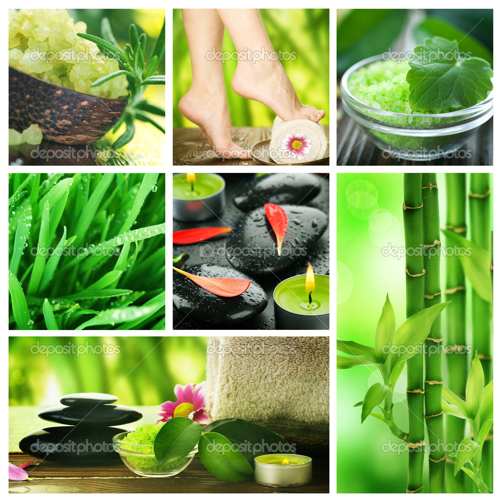 Beautiful Spa Collage  Stock Photo #10688547