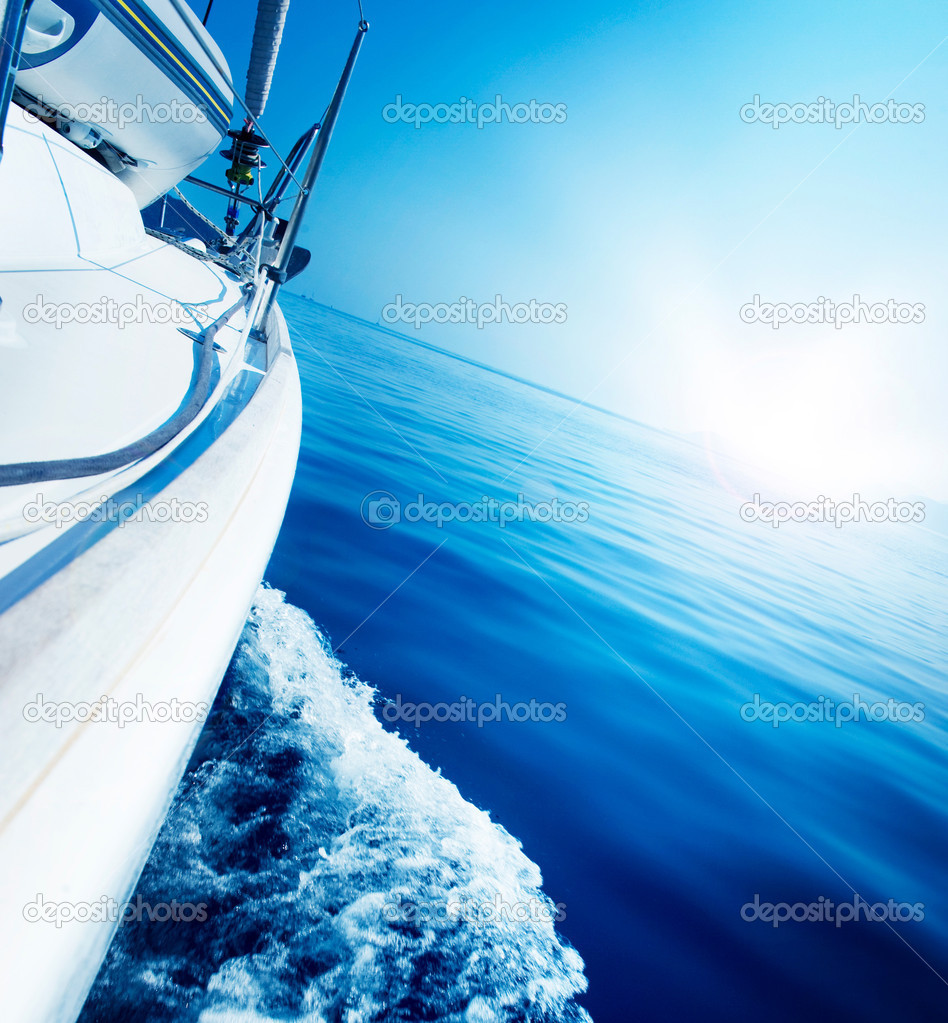 Travel .Luxury Yacht. Sailing — Stock Photo #10688721