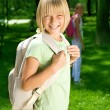 Happy Schoolgirl Outdoor. Back To School Concept — Stock Photo #10746740